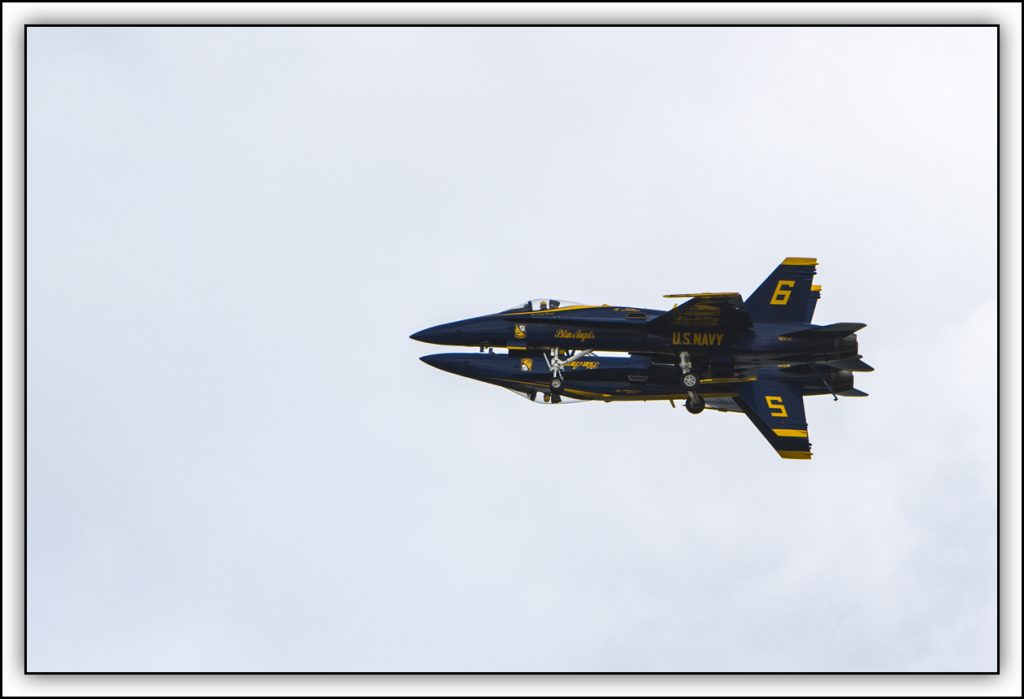 Blue Angels Mirror Image